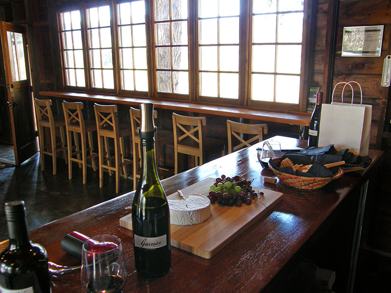 Garnier Vineyards tasting room interior